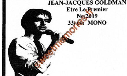 Jean-Jacques Goldman – Etre le premier