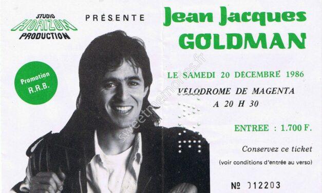 Jean-Jacques Goldman – Billet Vélodrome de Magenta