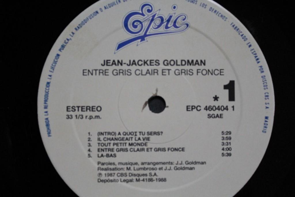 Jean Jacques Goldman Entre Gris Clair Et Gris Fonce Sweet Memories