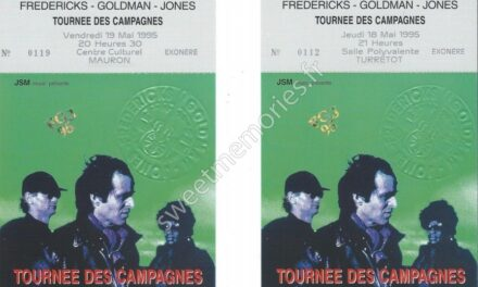 Fredericks-Goldman-Jones – Tournée des campagnes