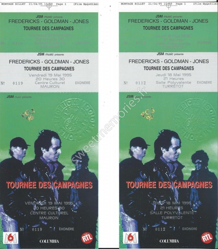 Fredericks-Goldman-Jones – Tournée des campagnes