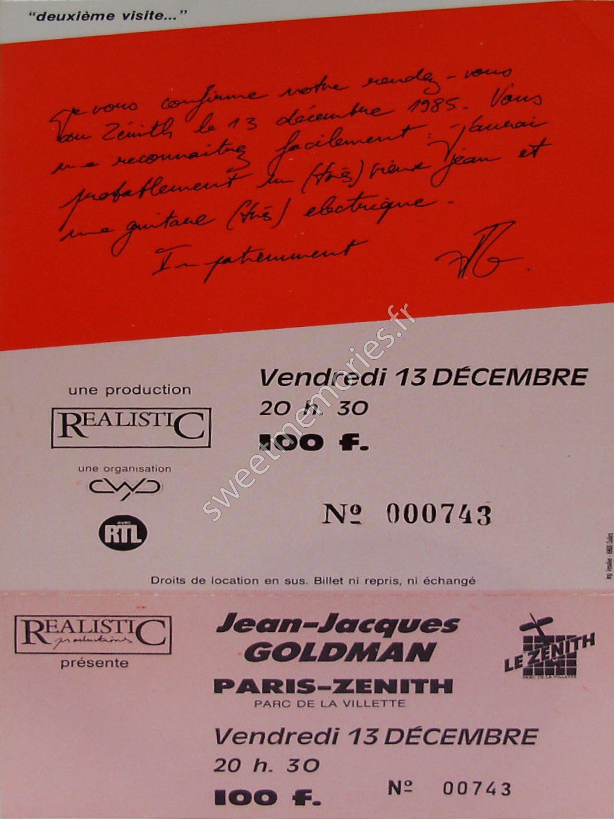 Jean-Jacques Goldman – Deuxieme visite